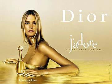 Publicidad de uno de los famosos perfumes Dior