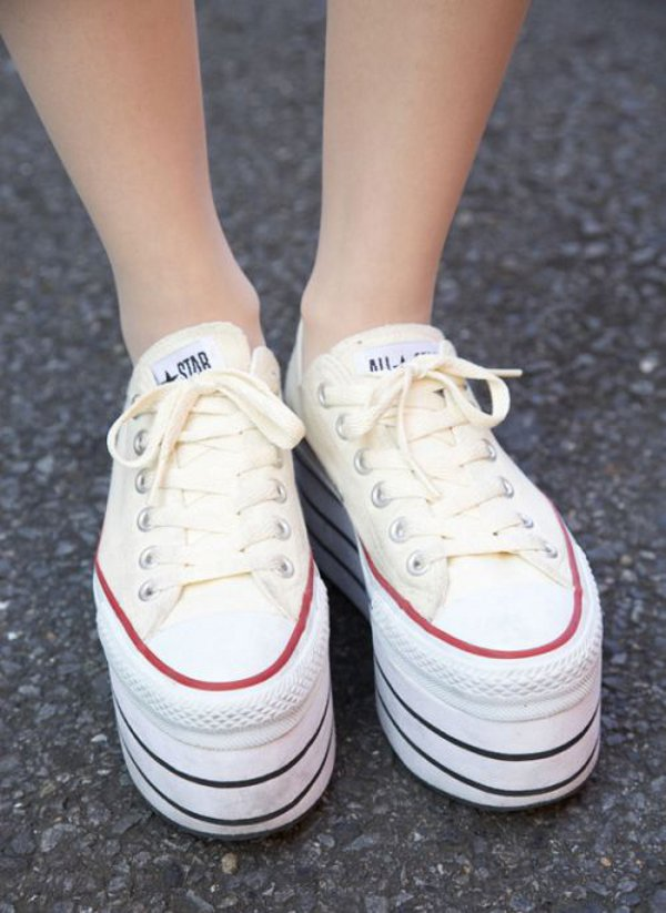converse all star con suela alta